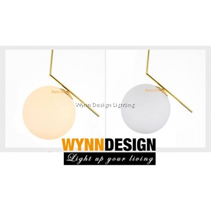 Set with LED Bulb 20cm Gold Hanging Light Wynn Design Nordic Restaurant Chandelier Post Modern Bedroom Glass Ball Clothing Store Led Simple Creative Single Head Led Chandelier Lampu Gantung Lampu Hiasan (FP-1130-200-GD)